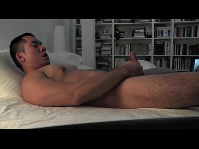 Horny Asian Gay Cam Dude Jerks Off Hard Until Cums
