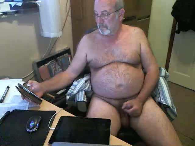 Hairy Mature Gay Guy Maturbates His Small Dick On Live Cam