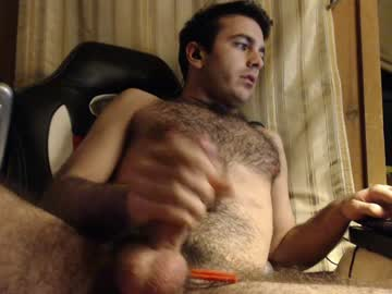 Hairy College Guy Michael Plays With His Meaty Dick On Webcam