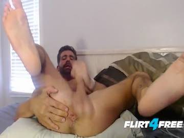 Bi Curious Jock Brett King Cum Show