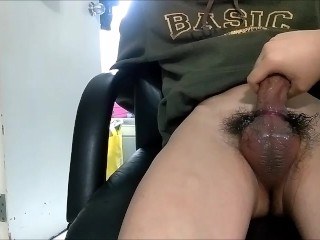 Asian cam boy gets edged by buddy