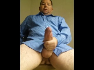 Beefy daddy with super thick penis