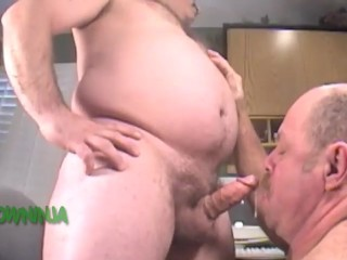 Army chub gets blown on gay cam